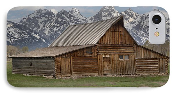 Cloudy Day At The Moulton Barn IPhone Case by Adam Jewell
