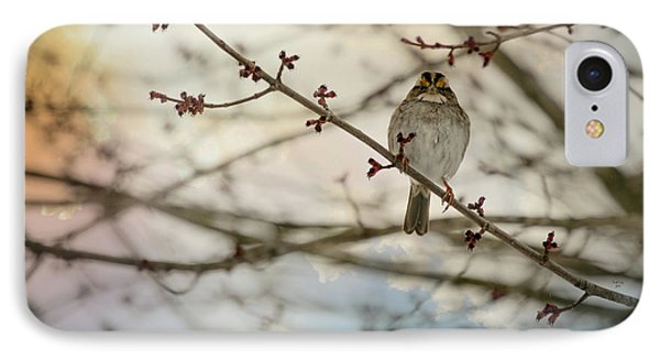 IPhone Case featuring the photograph Cloudy Finch by Trish Tritz