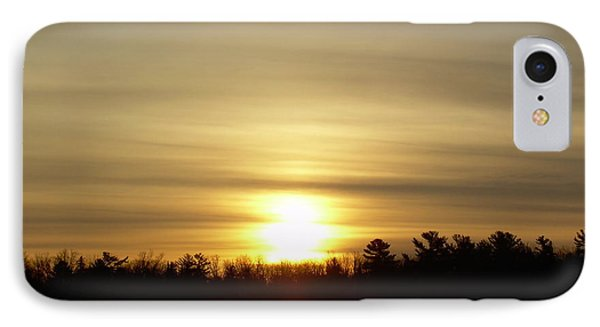 IPhone Case featuring the photograph Cloudy Golden Sky At Dawn by Kent Lorentzen