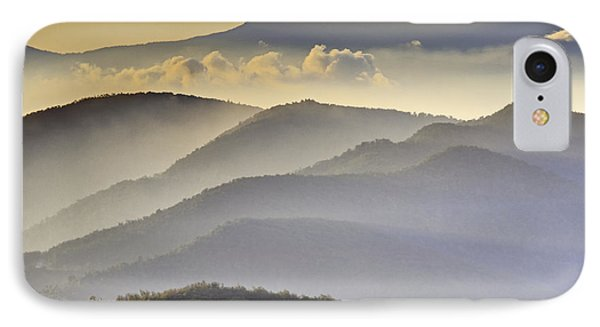 Cloudy Layers On The Blue Ridge Parkway - Nc Sunrise Scene Phone Case by Rob Travis