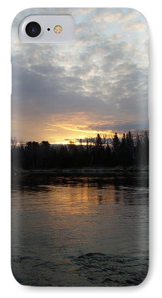 IPhone Case featuring the photograph Cloudy Mississippi River Sunrise by Kent Lorentzen