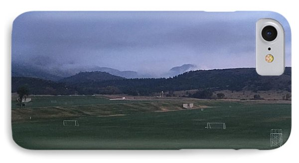 Cloudy Morning At The Field IPhone Case by Christin Brodie