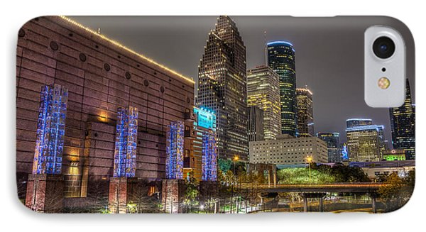 IPhone Case featuring the photograph Cloudy Night In Houston by David Morefield