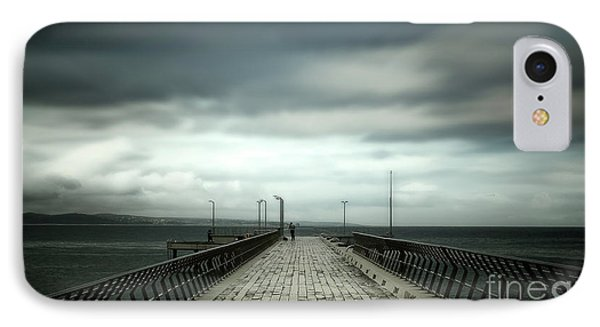 IPhone Case featuring the photograph Cloudy Pier by Perry Webster