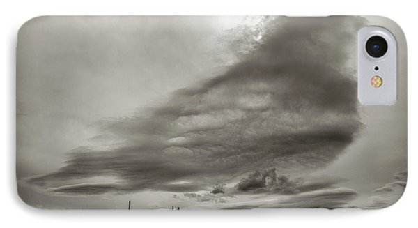 IPhone 7 Case featuring the photograph Cloudy Sky, Karakorum, 2016 by Hitendra SINKAR