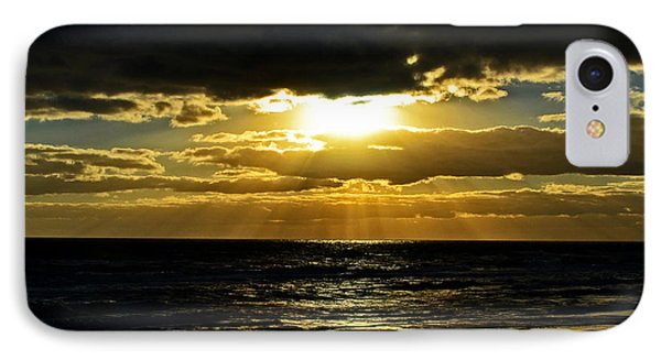 Cloudy Sunrise At Flagler Beach 002 IPhone Case by George Bostian