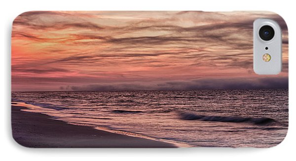IPhone Case featuring the photograph Cloudy Sunrise At The Beach by John McGraw