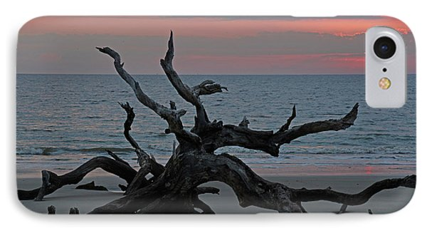 Cloudy Sunrise On Jekyll Island's Driftwood Beach IPhone Case by Bruce Gourley
