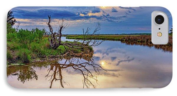 Cloudy Sunset On Assateague Island IPhone Case by Rick Berk