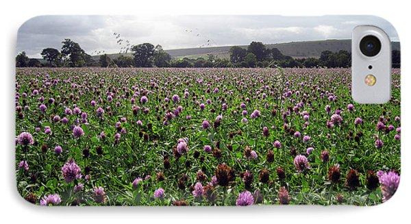 Clover Field Wiltshire England Phone Case by Kurt Van Wagner