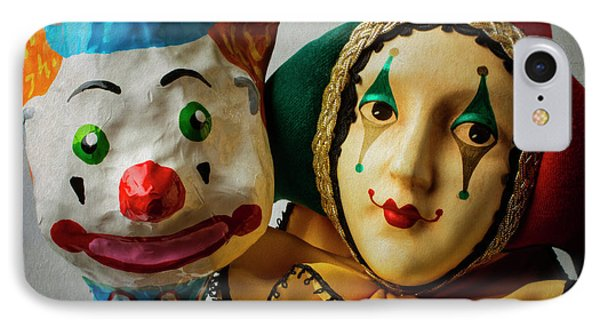 Clown And Jester IPhone Case by Garry Gay
