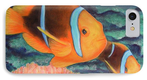 Clown Fish #310 Phone Case by Donald k Hall
