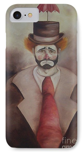 IPhone Case featuring the painting Clown by Marlene Book
