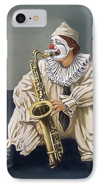 IPhone Case featuring the painting Clown by Natalia Tejera