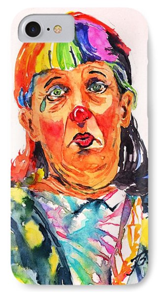 Clown Series Oh No  IPhone Case by Betty M M Wong