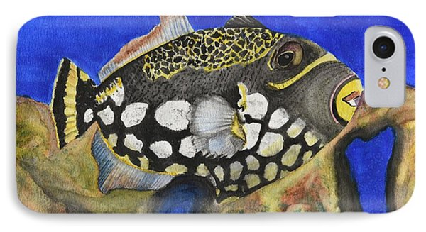 Clown Triggerfish IPhone Case by Linda Brody