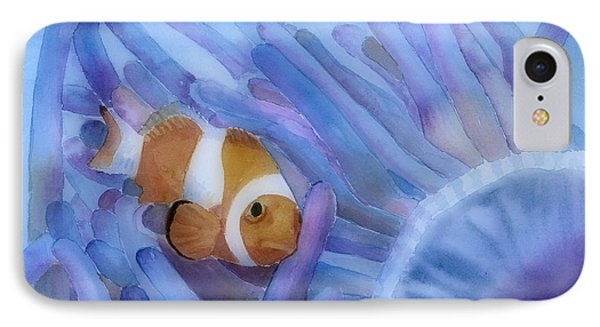 Clownfish And The Sea Anemone Phone Case by Arline Wagner