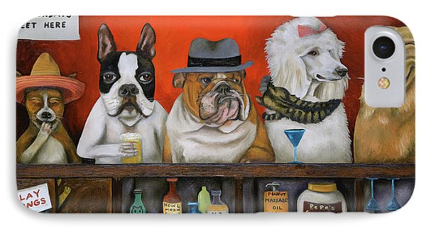 Club K9 IPhone Case by Leah Saulnier The Painting Maniac