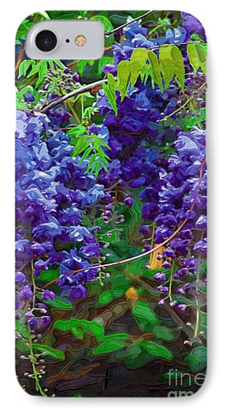 IPhone Case featuring the photograph Clusters Of Wisteria by Donna Bentley