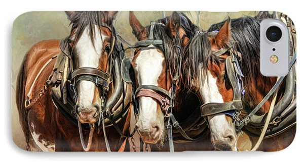 Clydesdale Conversation IPhone Case by Trudi Simmonds
