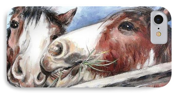 Clydesdale Pair IPhone Case