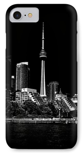 IPhone Case featuring the photograph Cn Tower From Bathurst Quay Toronto Canada by Brian Carson