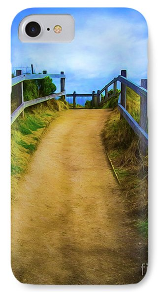 IPhone Case featuring the photograph Coast Path by Perry Webster