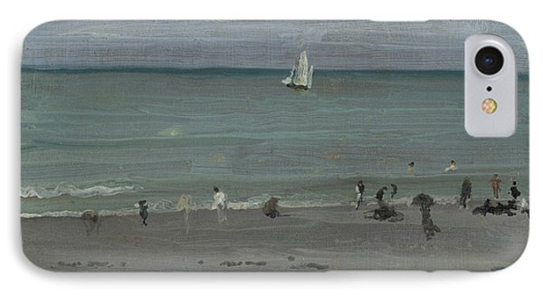 Coast Scene, Bathers IPhone Case