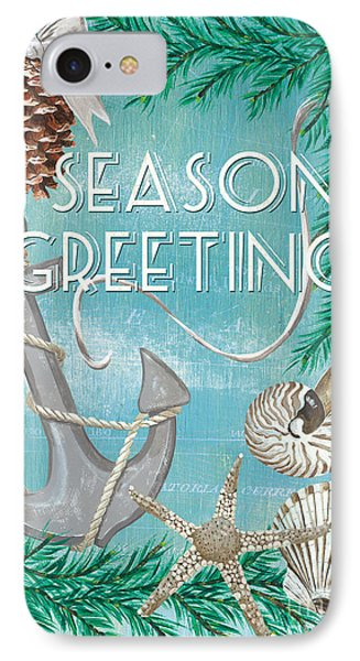 Coastal Christmas Card IPhone Case by Debbie DeWitt