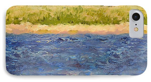 IPhone Case featuring the painting Coastal Dunes - Square by Michelle Calkins