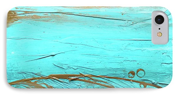 Coastal Escape II Textured Abstract IPhone Case