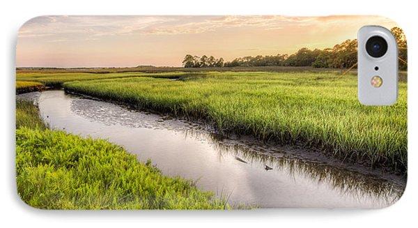 Coastal Florida Landscape - Late Afternoon On The Marsh  IPhone Case
