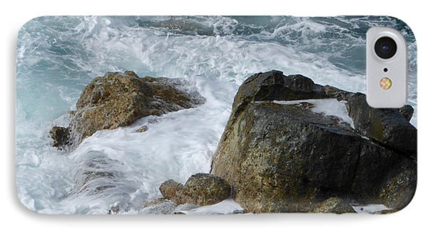 Coastal Rocks Trap Water IPhone Case by Margaret Brooks