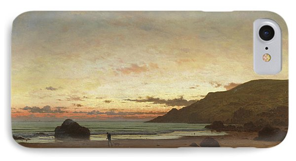 Coastal Scene With A Man And A Dog IPhone Case