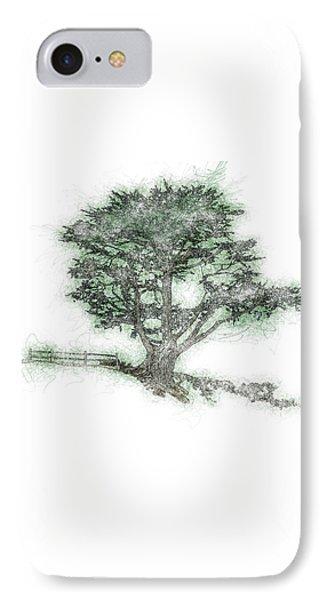 Coastal Tree Sketch IPhone Case