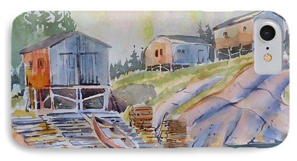 Coastal Village - Newfoundland IPhone Case by David Gilmore