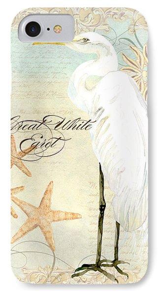 Coastal Waterways - Great White Egret 3 IPhone 7 Case by Audrey Jeanne Roberts