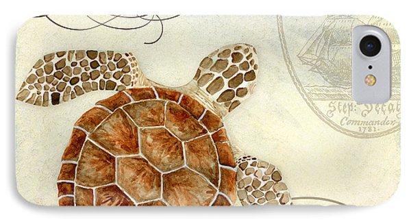 Turtle iPhone 7 Case - Coastal Waterways - Green Sea Turtle 2 by Audrey Jeanne Roberts