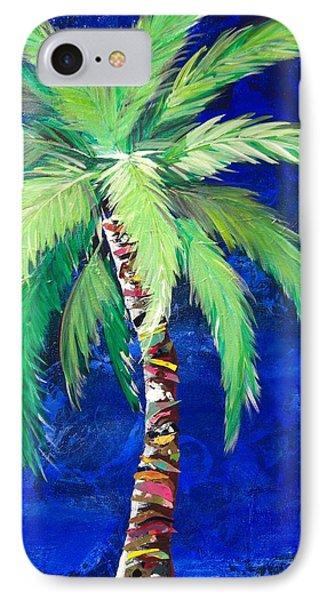 Cobalt Blue Palm II IPhone Case by Kristen Abrahamson
