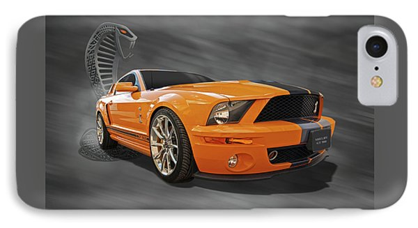 Cobra Power - Shelby Gt500 Mustang IPhone Case by Gill Billington