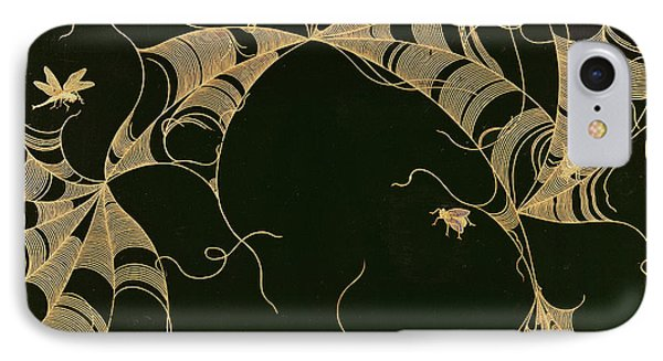 Cobwebs And Insects IPhone 7 Case by Japanese School