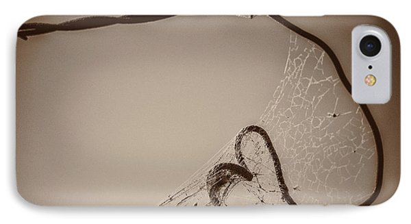 IPhone Case featuring the photograph Cobwebs On My Heart by Mary Hone