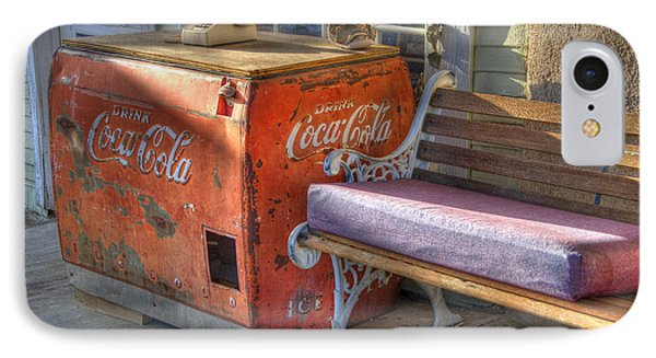 Coca Cola Cooler Back In Time Phone Case by Bob Christopher