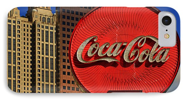 Coca Cola Neon Sign Atlanta IPhone Case