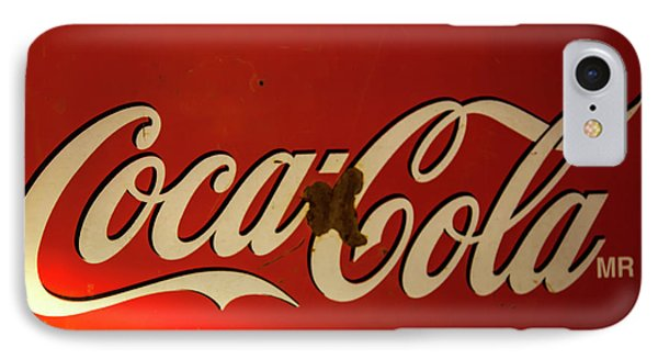 IPhone Case featuring the photograph Coca-cola Sign  by Toni Hopper