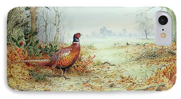 Cock Pheasant  IPhone 7 Case by Carl Donner