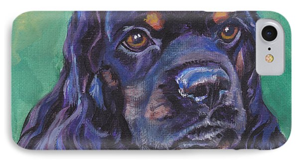 Cocker Spaniel Head Study Phone Case by Lee Ann Shepard