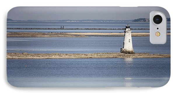 Cockspur Island Lighthouse With Jetty Phone Case by Carol Groenen