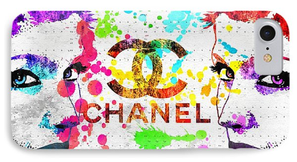 Coco Chanel Grunge IPhone Case by Daniel Janda