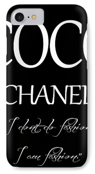Coco Chanel Quote IPhone Case by Dan Sproul